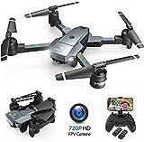 SNAPTAIN A15H Drohne mit Kamera HD 720P Faltbare Drohne FPV WLAN 120°Weitwinkel RC Quadrocopter/KopflosModus/Höhehalten/3D...