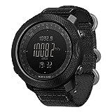 wisedwell Digitale Sportuhr Herren Uhren Männer Militär Wasserdicht Sport Outdoor-Sportarten Laufen Schwimmen Smartwatches Höhenmesser Barometer Kompass