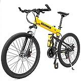NENGGE Faltbare Mountainbike für Herren Damen, Gabelfederung Hardtail MTB, Erwachsenen Fahrräder mit Zwei Scheibenbremsen, Rahmen aus...