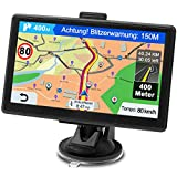 GPS Navi Navigationsgerät für Auto, Navigation für Auto PKW LKW Navi 7 Zoll Lebenslang Kostenloses Kartenupdate Navigationssystem mit POI Blitzerwarnung...
