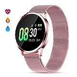 GOKOO Smartwatch Damen Frauen Fitness Armband Aktivitätstracker mit Pulsmesser IP67 Wasserdicht Uhren Schlafmonitor Blutdruck Schrittzähler für Android IOS...