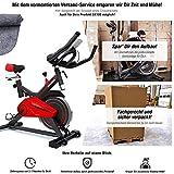 Profi Heimtrainer-Fahrrad SX100 inkl. VORMONTAGE | Hometrainer perfekt für Fitness Workouts Zuhause | Riemenantrieb leise | 13kg Schwungrad | Bodenschutz für...