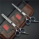 Friseurscheren Haarschere Haarschneideschere Schere Haare Schneiden Set Edelstahl mit Lederetui profi Haarschnitt für Damen und Herren von