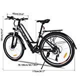 Free Venus 26Zoll Elektrofahrrad 36V 8A Mountainbike Damen E-Bike Aluminium mit 250W Hochgeschwindigkeits-Bürstenlose Motor, Große Kapazität Lithium-Akku