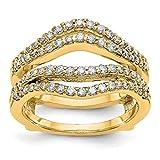Ringschutz, 14 Karat Gelbgold, Diamant-Verstärker, 0,624 Karat