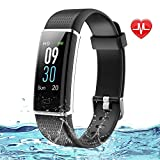 Lintelek Fitness Armband Wasserdicht IP68 Fitness Tracker Smartwatch mit Pulsmesser 0,96 Zoll Farbdisplay Fitness Uhr Armband Uhr Aktivitätstracker GPS...
