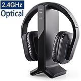 Avantree HT280 Funkkopfhörer Kabellose Kopfhörer zum Fernsehen mit 2,4G RF Transmitter Ladedock, Headset mit hoher Lautstärke, ideal für Senioren &...