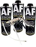 Alex Flittner Designs Steinschlagschutz/Unterbodenschutz schwarz 3x1kg überlackierbar + Unterbodenschutz Pistole Hohlraumpistole | Rostschutzpistole |...
