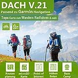 Dach V.21 - Outdoor Topo Karte passend für Garmin Navigationsgeräte zum Wandern, Radfahren und vieles mehr