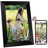 Digitaler Bilderrahmen WLAN Elektronischer Bilderrahmen - 10 Zoll Digitaler Fotorahmen mit WiFi, Hochauflösendem HD Touchscreen, Automatischer Bilddrehung,...