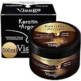 VISAGE Haarmaske Argan oil & Keratin | Haarkur strapaziertes und trockenes Haare | Hair Mask für gefärbte Haare Pflege & Haarglättung |...
