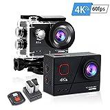 Toyaword outdoor sport Action Cam 4K 60FPS 20MP Sportkamera 40M wasserdichte Unterwasserkamera WiFi actioncam mit EIS Sensor 2.4G Fernbedienung externem...
