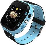 Kinder Smartwatch Touchscreen Smart Watch Phone mit LBS SOS Spiel Voice Chat Taschenlampe Wecker Digitale Armbanduhr Kamera Telefon Uhr für Jungen und Mädchen (Blau)