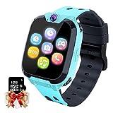 Smartwatch Kinder Telefon - Spiel Musik Kids Smart Watch [1 GB Micro SD Enthalten] mit Anruf Kamera Spiele Wecker Musik Player für Jungen Mädchen Alter 3-12...