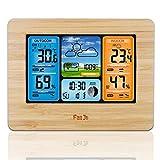 Wetterstation Funk mit Außensensor, Digitales Innen und außen Thermometer Hygrometer, Elektronischer Multifunktionswecker RF Funkwetteruhr Ewiger Kalender