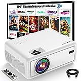 Projektor, GROVIEW Mini Beamer, 6000 Lux Video Beamer, Unterstützt 1080P, 240'' Display Tragbarer Beamer, mit 5.0 Bluetooth, Kompatibel mit Telefon, Fire...