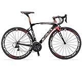 SAVADECK Carbon Rennrad, Herd 6.0 T800 Kohlefaser 700C Rennrad Shimano 105 R7000 Groupset 22 Geschwindigkeit Kohlenstoff Radsatz Sattelstütze Gabel Ultra-Licht...