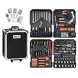 Werkzeugkoffer Werkzeugset Werkzeug im praktischen Koffer Universal Werkzeugkiste Werkzeugkasten für den Haushaltbereich Werkzeugtrolley inkl. vielseitigem...