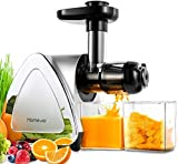 Slow Juicer, Homever BPA-frei Entsafter Gemüse und Obst, Profi Juicer Ausgestattet mit Einem Geräuscharmen Motor& Überspannungschutz&Saftkanne &...