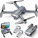 SYMA RC Drohne mit Kamera 4K HD faltbar Quadrocopter ferngesteuert Flugzeug GPS WiFi Return Home Follow Me Gestensteuerung gesamt 56 Min.Flugzeit 2 Akkus