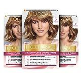 L'Oréal Paris Excellence Creme Permanente Haarfarbe, 100% Grauhaarabdeckung, Haarfärbeset mit Coloration, Shampoo und 3-fach Pflegecreme, 7 Mittelblond, 3 x...