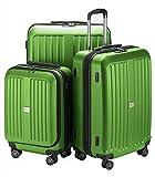 HAUPTSTADTKOFFER - X-Berg - Koffer-Set Trolley Hartschale, TSA, 55 x 65 x 75 cm, 257 Liter, Apfelgruen matt