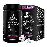 VIMAVETIA HAAR & HAUT VITAL KOMPLEX: Haut und Haar-Vitamine, Immunsystem Stärken, hochdosiert Biotin Zink Selen für Haarwuchs, Silizium, Hirse, D3,...