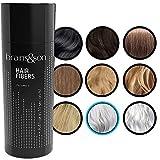 Brains & Son Streuhaar - Premium Haarverdichtung / Schütthaar mit Soforteffekt bei Geheimratsecken, Haarausfall und lichtem Haar - Haarpuder   25g (GRAU)