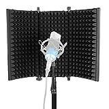 Neewer Professional Studio Aufnahme Mikrofon Isolation Shield Absorbierender Schaum mit hoher Dichte zum Filtern von Stimmen Kompatibel mit Blue Yeti und allen...