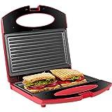 Gotoll Sandwichmaker, Sandwich- & Paninitoaster, Kontaktgrill mit rutschfesten Füßen, Toastplatte für Sandwichtoaster, Antihaftbeschichtung, Tisch-Grill,...