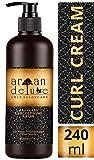 Argan Deluxe Curl Defining Cream in Friseur-Qualitt 240 ml - Lockenpflege-Creme mit Arganl fr Glanz, Feuchtigkeit und Sprungkraft