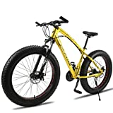 Kays Mountainbike 26 Zoll Mountainbikes 7/21/24/30 Geschwindigkeiten Leichtes Aluminium Rahmen Fully Scheibenbremse (Color : Gold, Size : 27speed)