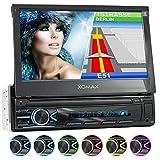 XOMAX XM-VN745 Autoradio mit Mirrorlink I GPS Navigation I Bluetooth I 7' / 18 cm Touchscreen Bildschirm I RDS, USB, AUX I Anschlüsse für Rückfahrkamera und...