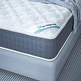 HomyLink Matratze 140x200cm Orthopädische Taschenfederkernmatratze mit Memory Foam 7 Zonen H3 23.5cm hoch Atmungsaktiver Strick