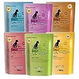 dogz finefood Hundefutter nass - Feinkost Nassfutter im Frischebeutel Multipack für kleine Hunde und Welpen - getreidefrei und zuckerfrei, verschiedene Sorten...