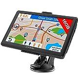 Jimwey Navigationsgerät für Auto LKW Navigation 7 Zoll Navi 16GB Navigationssystem Lebenslang Kostenloses Kartenupdate mit POI Blitzerwarnung Sprachführung...