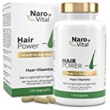 Haar-Vitamine - Für Haare, Haut und Nägel - 120 vegane Kapseln (2 Monate) - Mit 5.000 mcg Biotin, Zink, Selen, Hirse-Extrakt, OPC & Mehr - gesunder Haarwuchs...
