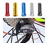 CaLeQi Fahrradkabel-Endkappen, Aluminiumlegierung, Bremsleitungskappe, Kabelende, Bremskabelkappe für Fahrrad-Schaltung, Legierung, Rennrad, Mountainbikes,...