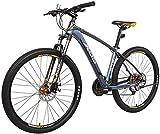 27,5 Zoll Mountainbike Damen, Alurahmen Hardtail Berg Fahrrad mit Doppelscheibenbremse, 27 Gang MTB Fahrrad für Männer Frauen Senioren Jugend,Blue,16
