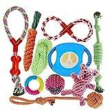 FONPOO Hundespielzeug, Hergestellt aus Natürlicher Baumwolle ungiftig und geruchlos Robust Besser für Zahnreinigung Geeignet für kleine Und Mittlere Hunde...