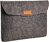 Amazon Basics Laptop-Tasche, Filz, für Displaygrößen bis 13 Zoll, Grau