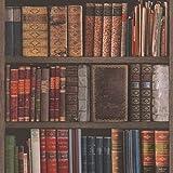 Rasch 934809 Tapete, Motiv: Bibliothek, Bücher