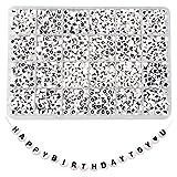 TOAOB 1440 Stück 4x7mm Weiß Buchstabenperlen Schwarz Wort A bis Z und Liebe Herz Rund Acryl Spacer Perlen für Schmuckherstellung
