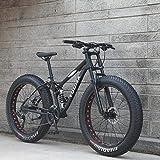 HFFFHA 26in Mountainbikes Dual-Fully for Erwachsene, High Carbon Stahl weichen Schwanz Rahmen, Geschwindigkeit Doppelscheibenbremse Fully Anti-Rutsch,...