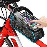 Fahrradtasche für Fahrrad, westbike-Fahrrad Beutel-Speicher, Fahrrad-Rahmen Tasche Leder, wasserdicht, verschleißfest, 1,5 l große Kapazität, Reit Schlauch...