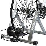 PedalPro - Rollentrainer mit Magnet-Widerstand - Turbo-Fahrradtrainer mit Schaltung am Griff für Verschiedene Geschwindigkeiten