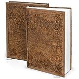 XXL Notizbuch ALTE WELT dunkel-braun antike Welt-Karte Globus Erde Tagebuch vintage Nostalgie alt Reisetagebuch Blanko-Buch Geschenkbuch DIN A4 - persönliches...