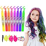 Haarkreide, ETEREAUTY 8 Farben Auswaschbar Haarkreide Temporäre Haarfarbe für Kinder Mädchen, Geschenke für Geburtstag Karneval & Weihnachten