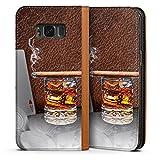 DeinDesign Leder Flip Case kompatibel mit Samsung Galaxy S8 Tasche Hülle Zigarre Whiskey Whisky