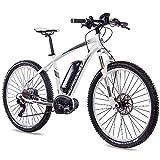 CHRISSON 27,5 Zoll E-Bike Mountainbike Bosch - E-Mounter 3.0 Weiss 52cm - Elektrofahrrad, Pedelec für Damen und Herren - Bosch Motor Performance Line CX 250W,...